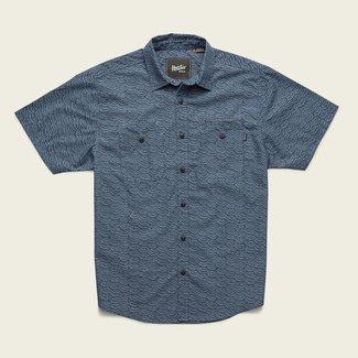 Howler Brothers Aransas Shirt Tarpon Scale Petrol Blue
