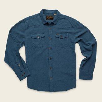 Howler Brothers Sheridan Shirt Pinpoints Navy