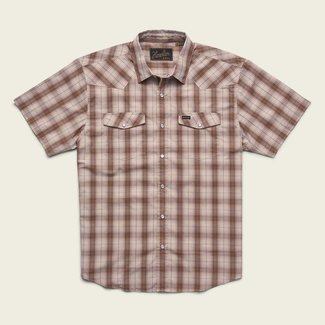 Howler Brothers H Bar B Snap Shirt Neches Plaid Red Clay