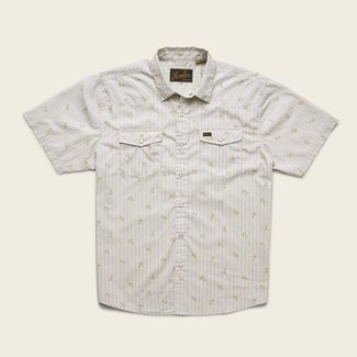 Howler Brothers H Bar B Snap Shirt Vintage Grid Floral Medium White