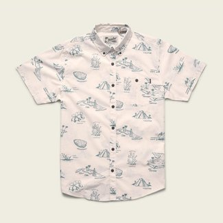 Howler Brothers Mansfield Shirt Gulf Print Vintage White