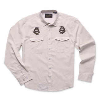 Howler Brothers Gaucho Snapshirt Riverbed Oxford Cottonmouth