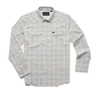 Howler Brothers H Bar B Tech Longsleeve Bolan Plaid Lazy Blue