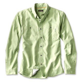 Orvis Tech Chambray LS Work Shirt Cact