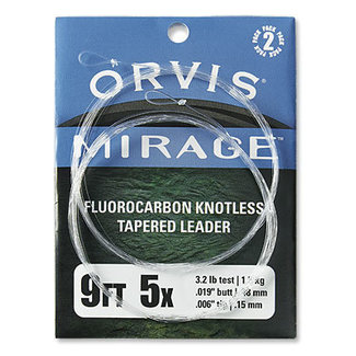 Orvis Mirage Knotless Leader 2 Pack  9ft