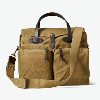 Filson 24 Hr Tin Briefcase Dark Tan
