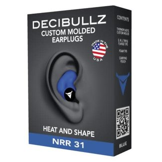 Decibullz Custom Molded Earplugs Blue