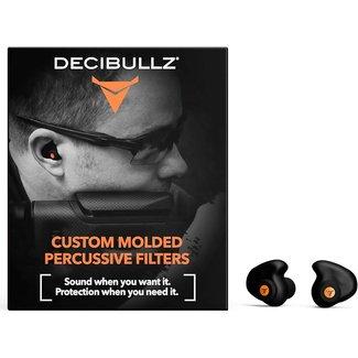 Decibullz Custom Molded Percussive Filters BLK