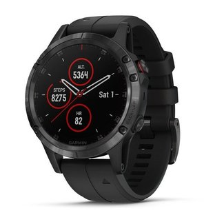 Garmin Fenix, 5 Plus, Sapphire, Carbon Gray with Black Band