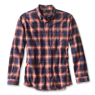 Orvis Indigo Tech Plaid Shirt