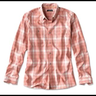 Orvis Tech Chambray Plaid Long Sleeve Shirt