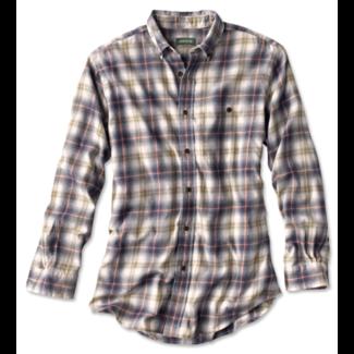 Orvis Slub Long-Sleeved Plaid Shirt