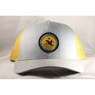 Gadget Co. Flying Duck Patch Heather Grey/ Amber Gold 5-Panel Trucker