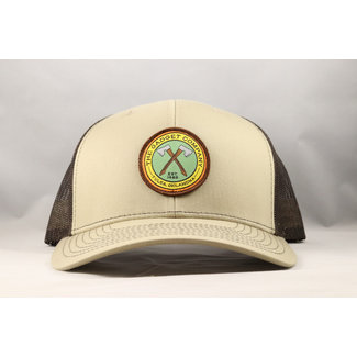 Gadget Co. Axe Logo Patch Khaki/Coffee Trucker