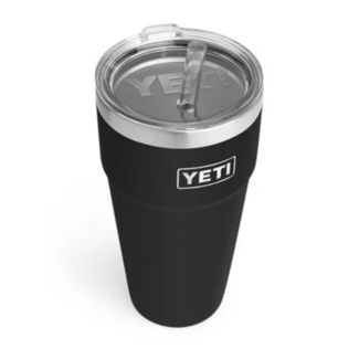 Yeti Rambler 26 oz Straw Cup Black