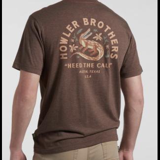 Howler Brothers Select Pocket T - Lazy Gators: Espresso
