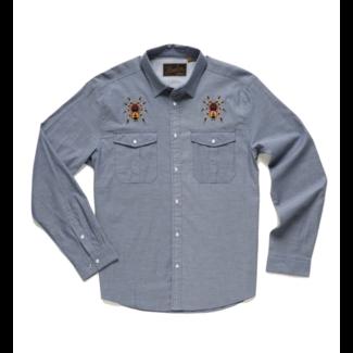 Howler Brothers Gaucho Snapshirt - Indigo Oxford : Tarantulas