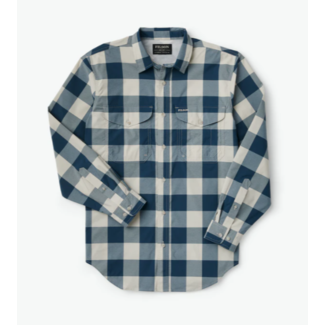 Filson Twin Lakes Sport Shirt Charcoal/Teal/Cream