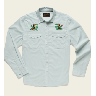 Howler Brothers Gaucho Snapshirt - Seafoam Microstripe : Two-cans