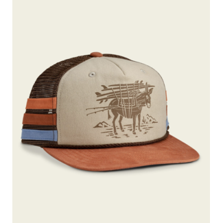 Howler Brothers Structured Snapback - Burro : Khaki/Brown/Rust