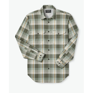 Filson Twin Lakes Sport Shirt Olive/White/Gold
