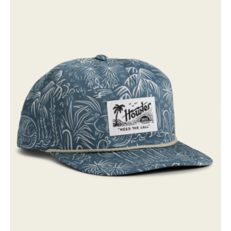 Howler Brothers Unstructured Snapback - Panhandle Print : Off White