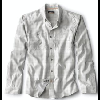 Orvis Tech Chambray Plaid Long Sleeve Shirt Vapor