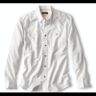 Orvis Tech Chambray Long Sleeve Work Shirt White