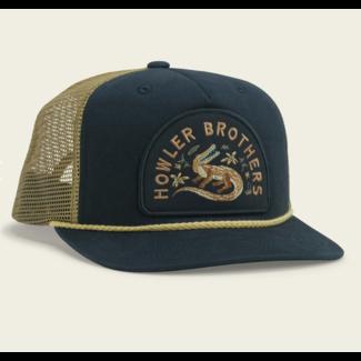 Howler Brothers Structured Snapback - Lazy Gators : Navy