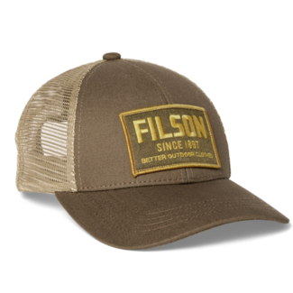Filson Mesh Snap-Back Logger Cap Tobacco