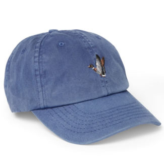 Filson Washed Low-Profile Cap Faded Cobalt Duck