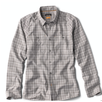 Orvis Tech Chambray Plaid Long Sleeve Shirt Dusk Plaid