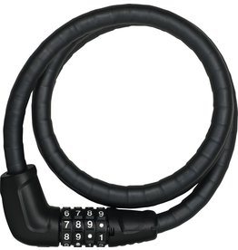 Abus Abus Combination Cable Lock Steel-O-Flex Tresor 6615C: 85cm x 15mm With Mount, Black