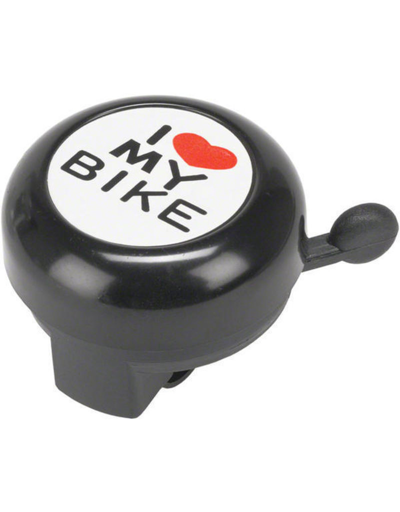 "Dimension Dimension ""I Heart My Bike"" Black Bell"