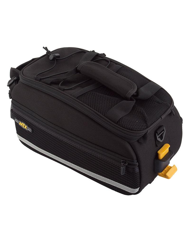 Topeak MTX Quick Track Trunkbag EX-Black-Rear Bicycle Trunk Bag-w shoulder Strap