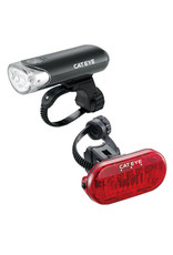 Cateye CatEye HL-EL135 LED Headlight and Omni3 LED Taillight Set: Black