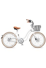 Electric Bike Company Electric Bike Company Model Y, White, single speed with fenders