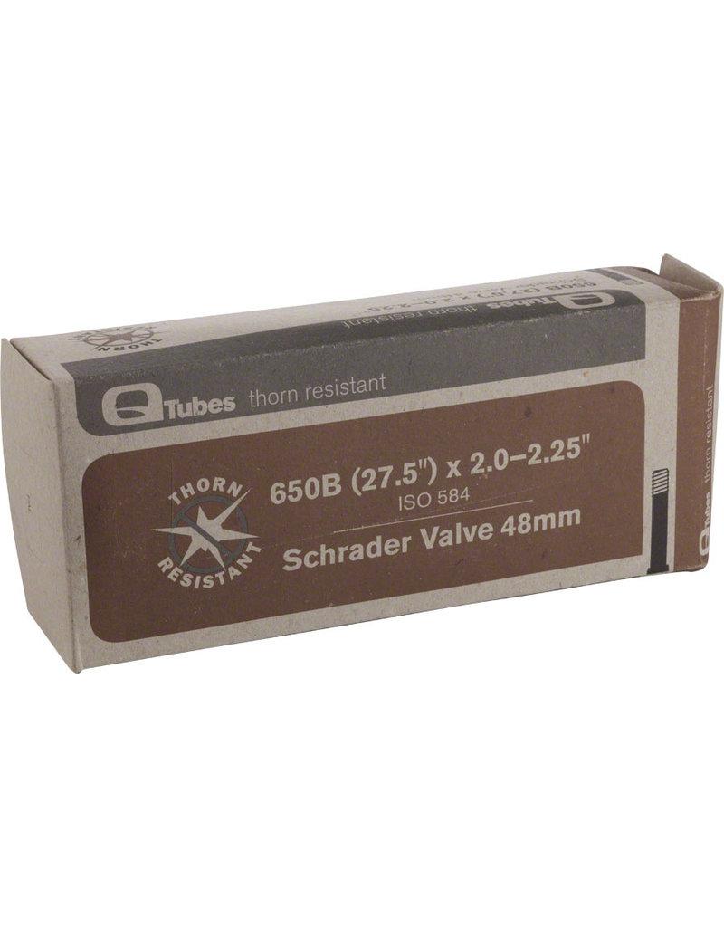 """Q-Tubes Q-Tubes Thorn Resistant 27.5 584mm 2.0""""-2.25"""" 52-58mm Long (48mm) Valve Schrader Tube"""