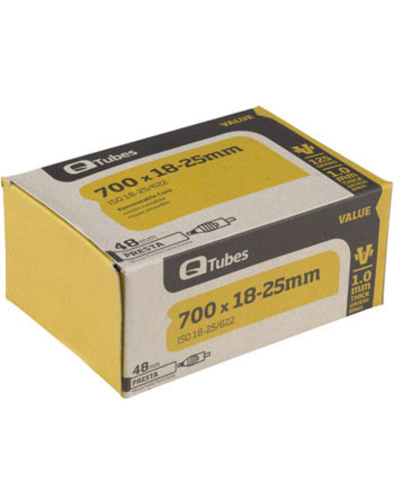Q-Tubes Q-Tubes Value Series Tube with 48mm Presta Valve: 700 x 18-25mm