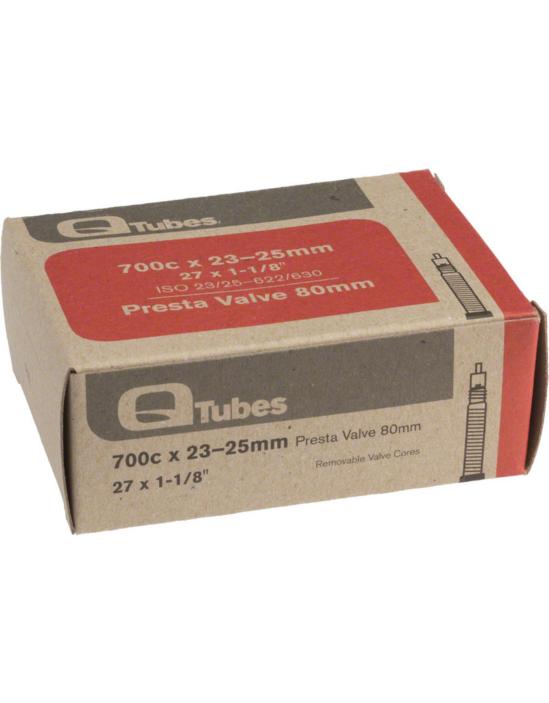 Q-Tubes Q-Tubes 700 x 23-25mm 80mm Presta Valve tube 128g