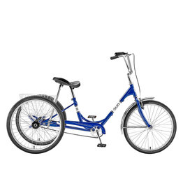"Sun Bicycles Sun Adult Trike 24"" Aluminum Wheels with White Basket"