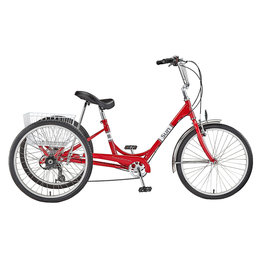 "Sun Bicycles Sun Adult Trike  24"" 7-speed  Aluminum wheels with basket"