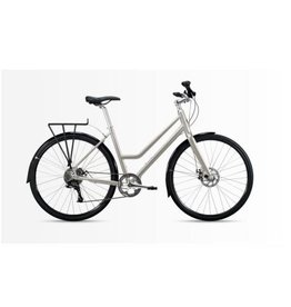 Roll Bike Roll C:1 City Bike (Step Thru, Polished Silver, Women's 1)