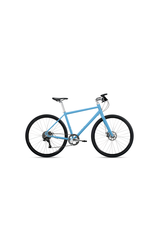 Roll Bike Roll Adventure-Step thru Matte Gulf Blue, polisher silver, women's 1