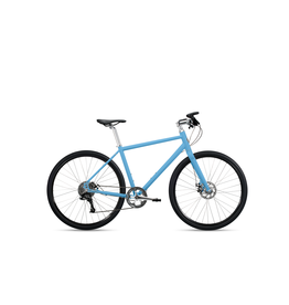 Roll Bike Roll Adventure-Step thru Matte Gulf Blue, polisher silver, women's 1