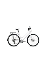 Roll Bike Roll C:1 City Step Thru (Carrera White, Matte Black Womens 2)
