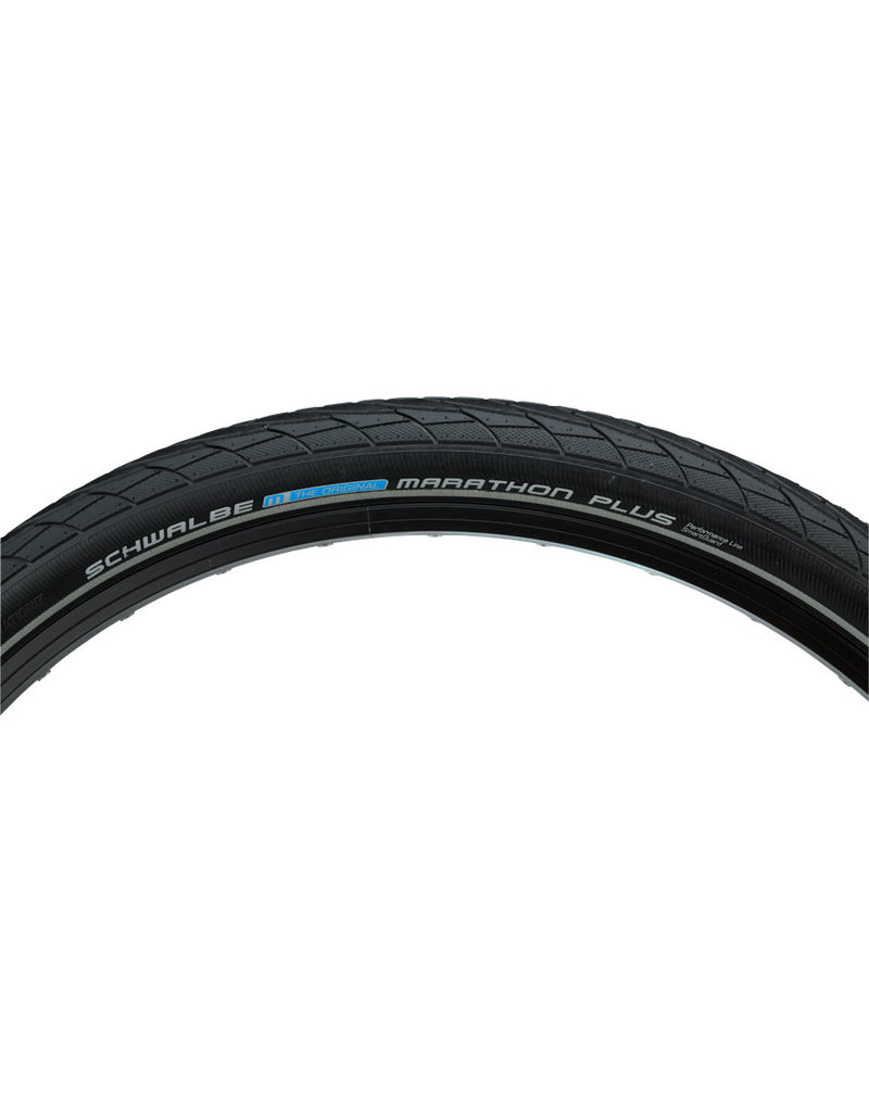 Schwalbe Schwalbe Marathon Plus Tire - 26 x 2, Clincher, Wire, Black/Reflective ,Performance Line