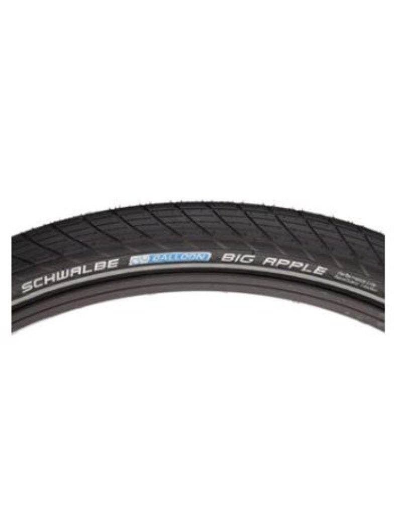 Schwalbe Schwalbe Big Apple Tire - 29 x 2.35, Clincher, Wire, Black/Reflective, Performance Line