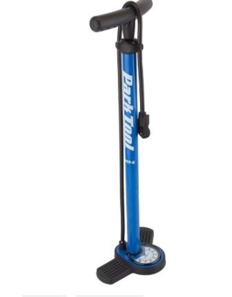 Park Tool Park Tool PFP-8 Home Mechanic Floor Pump, Blue/Black