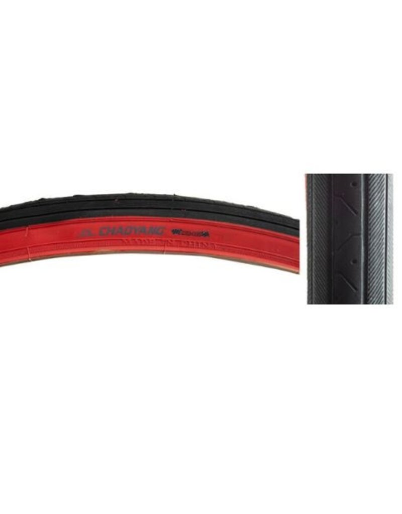 Chaoyang Chaoyang 27 x 1 1/4 H424 Black/Red Wall Tire